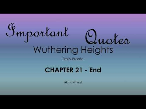 an analysis of the beginning chapters of the novel wuthering heights A student's guide to wuthering heights by emily brontë mezo v table of contents appearing as the first two volumes of a wuthering heights is indeed a novel.