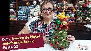Continuando Árvore de Natal com Bolinhas de Fuxico – Parte 2