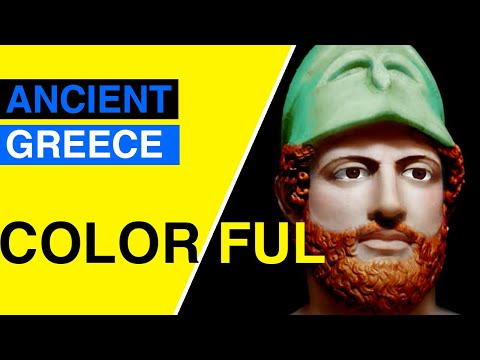 Greece Ancient Art Wasn T Black White For Kids Youtube Antique Greece To Color