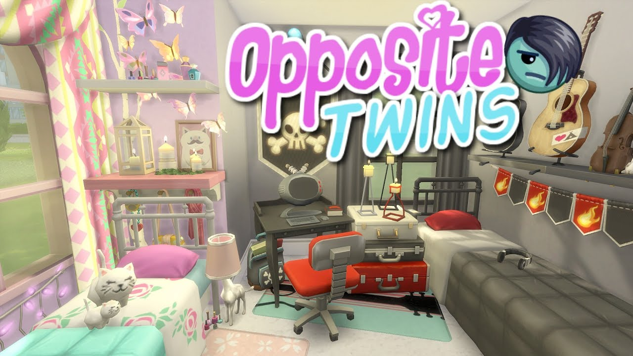 The Sims 4 Parenthood Opposite Twins Bedroom Speed