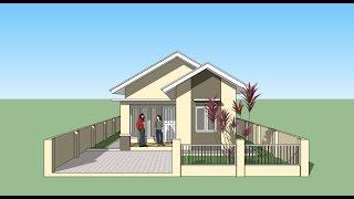 Sketchup tutorial menggambar rumah