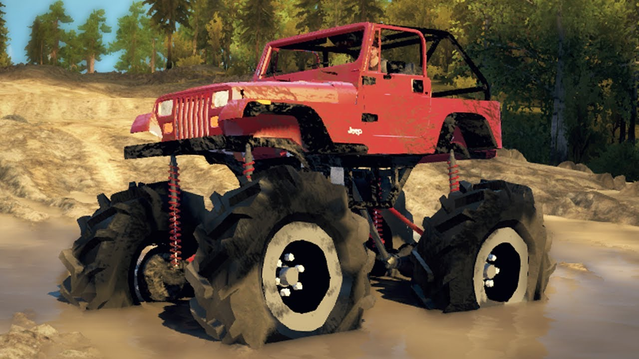 Jeep Mega Mud Truck  4x4 Lifted Off