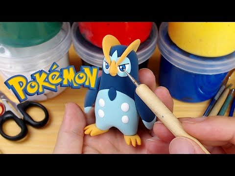 Piplup evolves? Making Prinplup (Pokémon) in Clay step by step