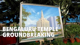 Full Bengaluru India Temple Groundbreaking