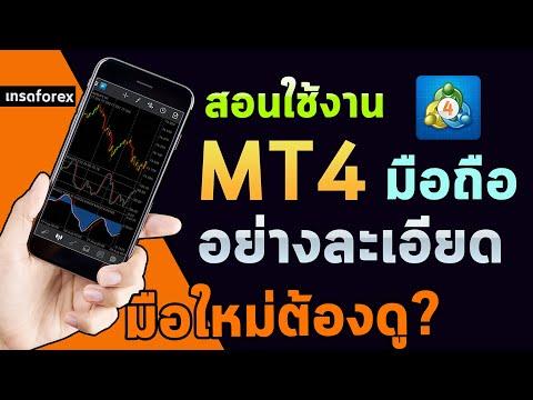 สอนใช้ mt4 มือถือ สำหรับมือใหม่ อย่างละเอียด โปรแกรมเทรด forex   metatrader4  Mobile