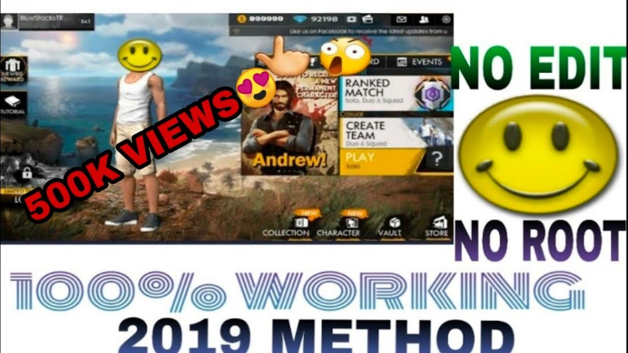 Free fire game hack with lucky patcher || 100% working || free diamonds ||