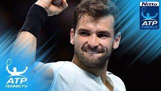 Video Goffin stuns Federer; Dimitrov books final place   Nitto ATP Finals 2017 Semi-Final Highlights download MP3, 3GP, MP4, WEBM, AVI, FLV November 2017