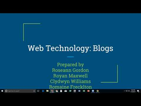Web Technology Blog