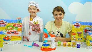 Плей До Кухня - МИКСЕР ДЛЯ СЛАДОСТЕЙ и Повар Даник с Мамой. Развивающее видео для детей
