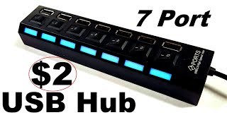 Random Reviews Ep 22 2 7 Port USB Hub full test