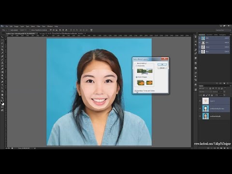 โฟโต้ชอป cs6 : 40 เทคนิคน่ารู้ - #15 สอนวิธีรีทัชเปลี่ยนใบหน้า ด้วย autoblend layer