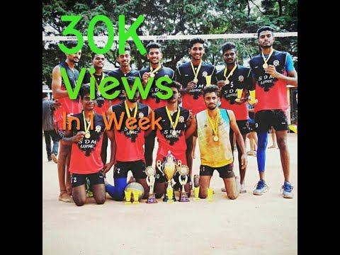 Volleyball SDM Ujire vs Sharada College Mangalore University Tournament