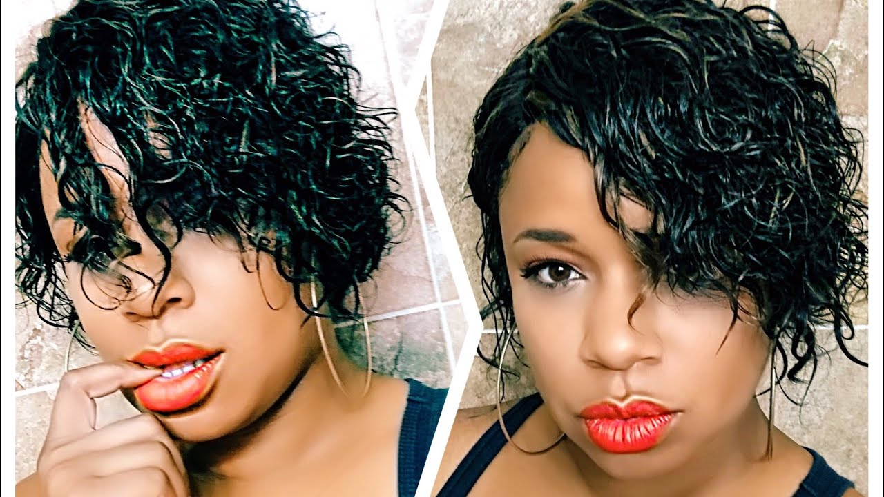 Summer Must Have Wet And Wavy Short Hair Youtube