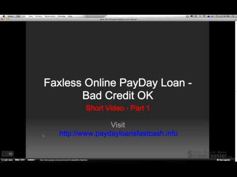 Faxless Online Payday Loan Lender-1 Hour-Bad Credit OK