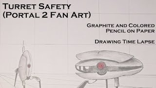 """Turret Safety"" (Portal 2) Drawing Time Lapse and Remix"