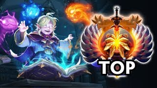FIRST TIME Invoker Persona in TOP IMMORTAL solo Rank MMR by Gunnar