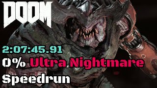 [World Record] DOOM (2016) - 0% Ultra Nightmare Speedrun