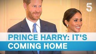 Meghan Markle and Prince Harry meet Ireland President Michael D Higgins - 5 News
