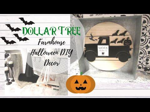 Dollar Tree Farmhouse Halloween DIY | Galvanized Truck | Upcycled Witch Hat | EASY Farmhouse Decor