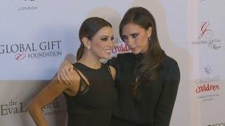 Victoria Beckham supports BFF Eva Longoria at Global Gift Gala