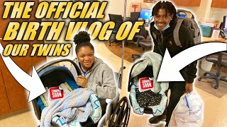 THE OFFICIAL BIRTH VLOG OF OUR TWINS! DAY 1 & 2