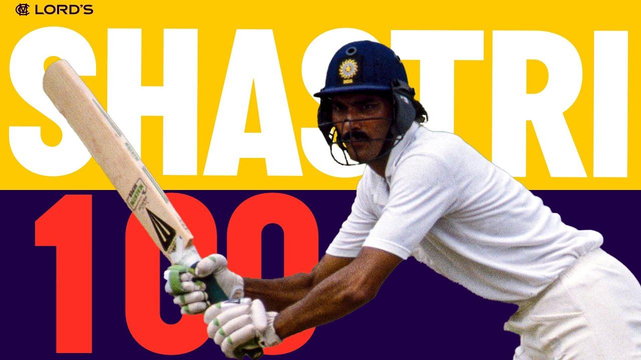 Ravi Shastri's Ton at the Home of Cricket!   Eng v Ind 1990