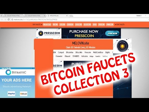 HIGHEST PAYING BITCOIN FAUCETS OF ALL TIME, COLLECTION 3 RELEASED!!!!!!
