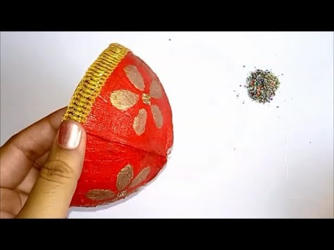 Diy Coconut Shell Painting Craft Best Out Of Waste Reuse Ideas