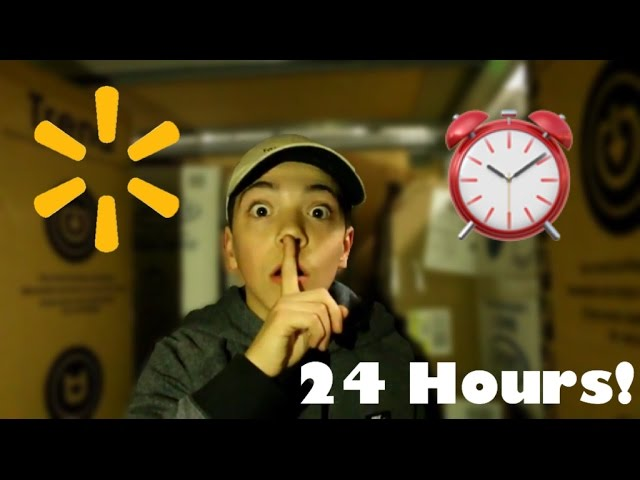 24 HOURS IN WALMART CHALLENGE! *WE GOT KICKED OUT* WE STAYED FOR ALL 24 HOURS!