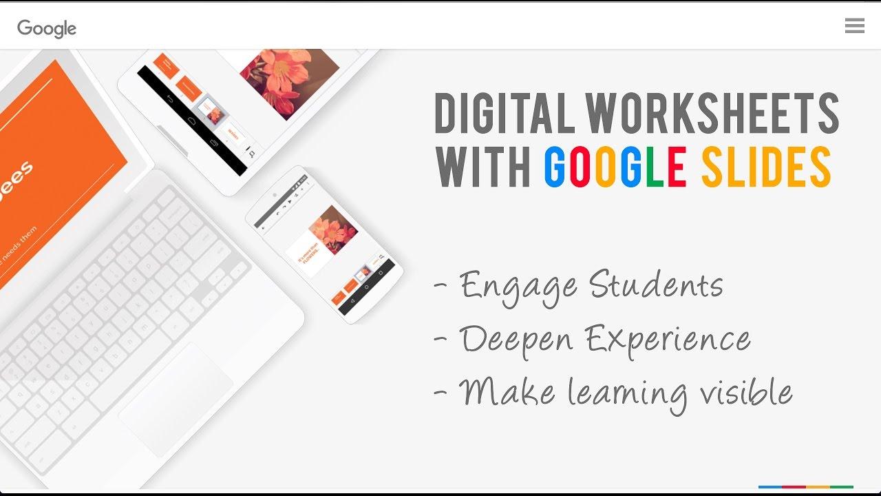 Create Digital Worksheets - using Google Slides