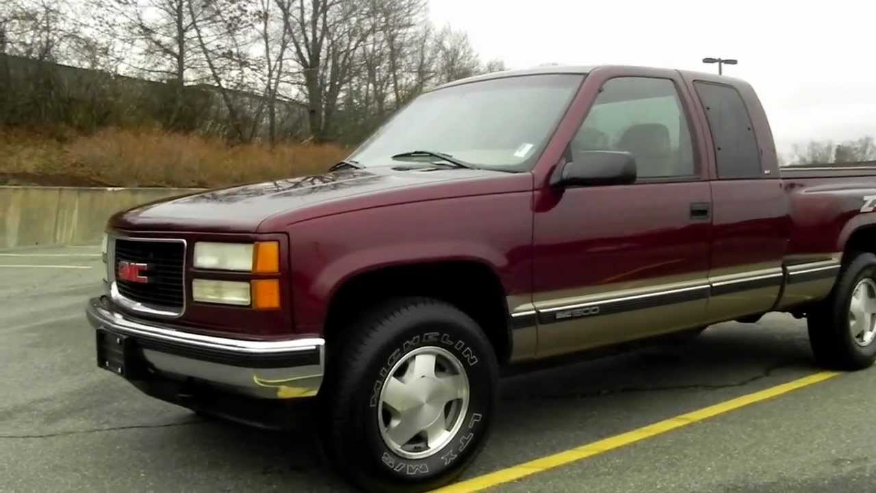 medium resolution of 1998 gmc sierra 1500 slt z71 style side 4x4 5 7l v8 vortec gas loaded new tires youtube