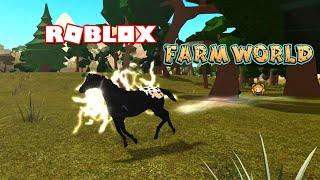 ROBLOX FARM WORLD HORSE FAN PARTY!! Blanket Appaloosa Foal Pony + Lightning & Sparkles Auras!