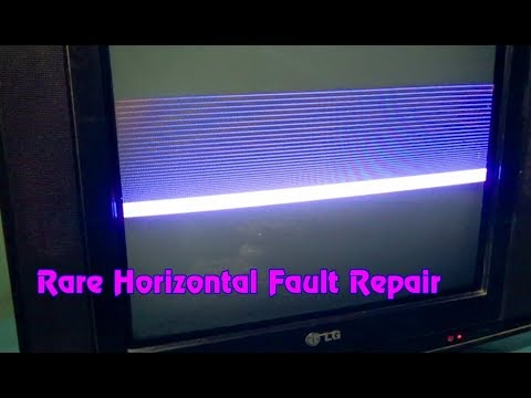 How To Repair Horizontal Line Of Color Television (Part 3)