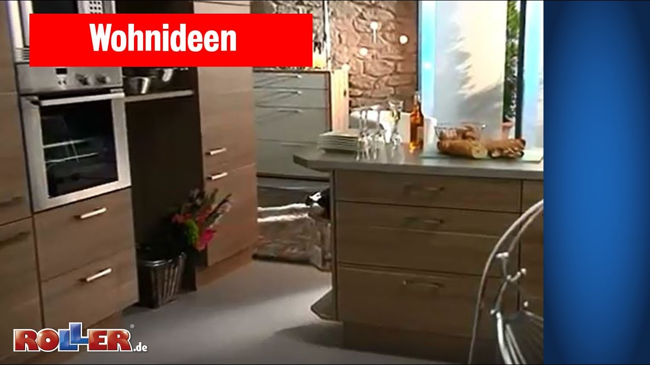offene wohnk che einrichten roller wohnideen youtube. Black Bedroom Furniture Sets. Home Design Ideas