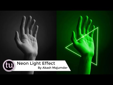 How To Create  A Neon Light Effect In Photoshop | Photoshop Cc 2020