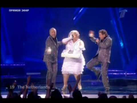 Eurovision 2009 Netherlands (LIVE in Moscow) ( The Netherlands ) The TOPPERS :) omfg