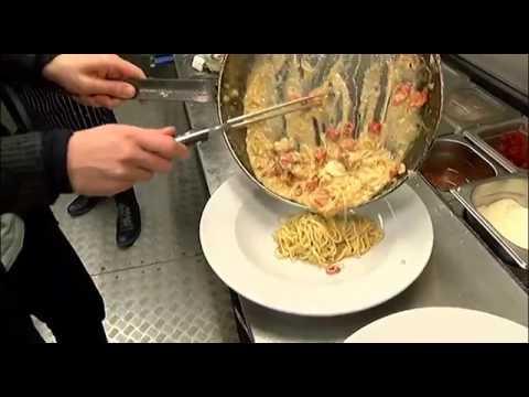 Jamie cooks with Aldo Zilli