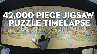 42,000 piece jigsaw puzzle timelapse screenshot 4