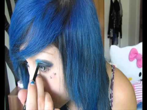 BLUE PASSION - makeup tutorial ! ♥ thumbnail