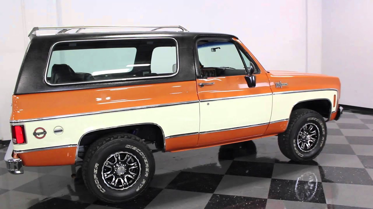 1005 DFW 1973 Chevy Blazer K5  YouTube