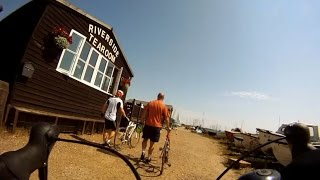 Cycling to Orford with much faster friends, filmed with GoPro