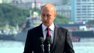 27 07 14 Выступление Путина в ходе посещения крейсера Адмирал Флота Сов  Союза Кузнецов