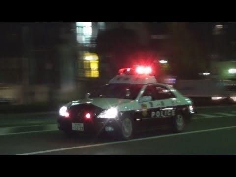 ゼロクラパト、夜の緊急走行 Tokyo police car in emergency