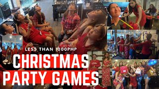 VIRAL PINOY PARTY GAMES | BUDGET FRIENDLY | Minute To Win It Christmas Party | AnnePlugged