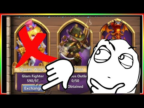 What Happens: Exchange Skin WITHOUT Having A Hero? Castle Clash
