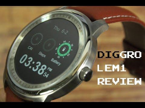 Smartwatch unter 100€ : Diggro / Lemfo LEM 1 Review - Deutsch