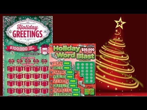 WINS!! $5 Holiday Greetings & $3 Holiday Word Blast Texas Lottery Tickets
