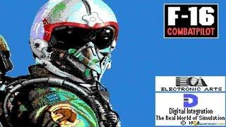 F-16 Combat Pilot gameplay (PC Game, 1989)