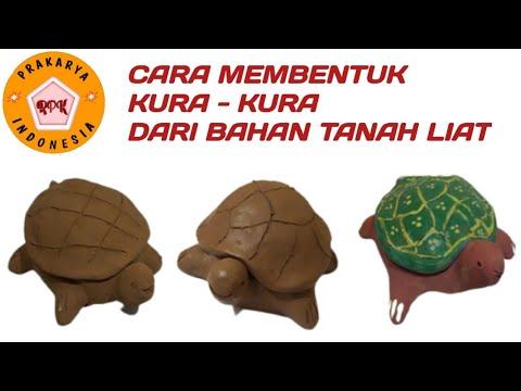 cara-membuat-kura-kura-dari-tanah-liat---turtle-ceramic-by-clay