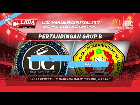UC VS UPN di LIMA Futsal McDonald's East Java Conference 2017 (Men's)